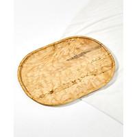 Khay gỗ thích hình oval Blu Legno 45x33cm