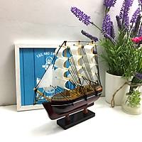Mô hình thuyền gỗ trang trí Le Belem - thân 20cm