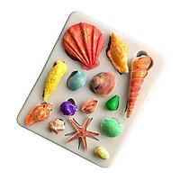 Khuôn silicon sao biển, sò, ốc biển