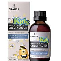 Siro đặc trị ho có đờm cho bé trên 2 tuổi - Brauer Kids Manuka Honey Chesty Cough 100 ml + tặng khăn Cotton xuất khẩu