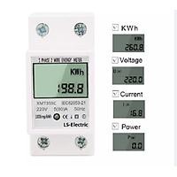 Công tơ điện tử đồng hồ điện thiết bị đo công suất LS-Electric 8A hiển thị 4 thông số U I P KWh độ chính xác cao