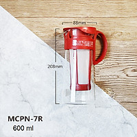 BÌNH PHA CAFE LẠNH HARIO MIZUDASHI COLD BREW MCPN-7R MÀU ĐỎ-600ML