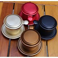 Set 4 phin nhôm pha cà phê sắc màu chất lượng cao phủ màu thực phẩm an toàn bằng công nghệ anodize