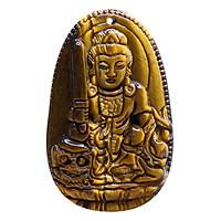 Mặt Dây Chuyền Văn Thù Bồ Tát Mắt Hổ Vàng - Phật Bản Mệnh VIETGEMSTONES Cho Người Tuổi Mão