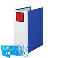 Combo 5 File đựng tài liệu A4S - 10cm - KING JIM 1470GSV còng ống cao cấp
