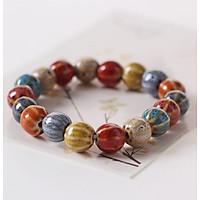 Vòng tay gốm dưa hấu nhỏ thời trang phong cách trẻ hàng xuất Nhật VGOM05