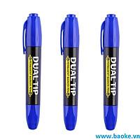 Combo 3 Bút lông dầu 2 đầu MP2918 màu xanh