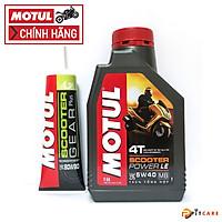 Combo Nhớt Xe Tay Ga và Nhớt Hộp Số Motul Scooter Power LE 5W40 Có Chiết Lẻ Và Motul Scooter Gear Oil 120ml