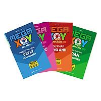 Combo 4 Cuốn Sổ Tay Mega XOY - Học Nhanh Phương Pháp Giải: Toán Học - Vật Lý - Hóa Học - Tiếng Anh