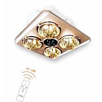 Đèn sưởi nhà tắm âm trần 4 bóng kèm đèn chiếu sáng và thông gió Asia VN