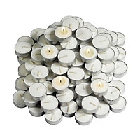 Bộ 100 Nến Tealight Price Star  Pierey Sáp  Paraffin Trắng 4 x 2cm