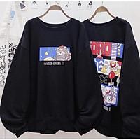 Áo nỉ sweater DORO Form Rộng nam nữ đều mặc được có 4 màu