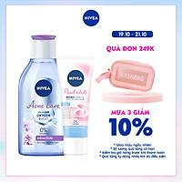 [Mua 1 tặng 1] Nước tẩy trang NIVEA ngừa mụn Acne Care Micellar Water (400ml) - 80116- Tặng Sữa Rửa Mặt Pearl White 50gr