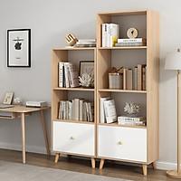 Tủ chân gỗ đựng đồ, tủ kệ đựng sách có ngăn kéo đa năng hiện đại, tủ gỗ chất lượng cao