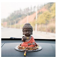 Tượng Phật như lai  Hợp Chưởng Gốm Đỏ + kèm chuỗi