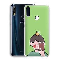 Ốp lưng dẻo cho điện thoại Zenfone Max Pro M2 - 01219 7898 BOY01 - in hình chibi dễ thương - Hàng Chính Hãng