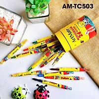 Bút sáp vặn ống 24 màu AM-TC503