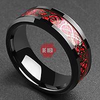 Nhẫn nam titan đá màu cực đẹp Trang sức Bé Heo BHN115