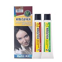 Nhuộm phủ bạc dược thảo Amiseven nhanh 7 phút AMI SEVEN Speedy Permanent Hair Color (Loại tiết kiệm) (60+60)