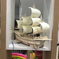 Đồ chơi lắp ráp gỗ 3D Mô hình Thuyền Thương Gia Merchant Ship
