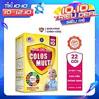 Sữa bột Colosmulti IQ hộp 22 gói x 16g phát triển chiều cao và trí thông minh cho trẻ