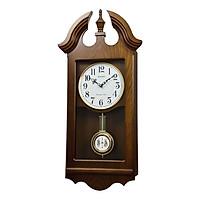 Đồng hồ treo tường RHYTHM SIP (Sound In Place) Wall Clocks CMJ573NR06 (Kích thước 32.2 x 67.2 x 12.1cm), Vỏ màu Nâu