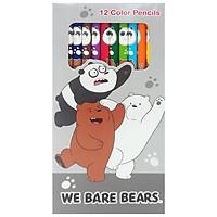 Chì Màu Dài We Bare Bears 218 - Mẫu 2 - Bao Bì Màu Xám