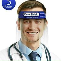 Combo 2 Kính chống giọt bắn - Kính Face Shield Chống Giọt Bắn Phòng Dịch Nhựa trong suốt+ tặng kèm 1 đôi tất thêu bấm huyệt