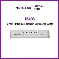 Bộ chia mạng 5 Cổng Switch Netgear FS205 Fast Ethernet Unmanged 10/100Mbps - Hàng Chính Hãng