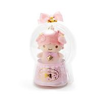 Sanrio Móc khóa búp bê trẻ em trang trí hình cô bé LALA, 2 ngôi sao trong quả cầu thạch anh màu hồng chủ đề Giáng sinh