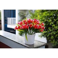 Chậu hoa lily nhựa cao cấp trang trí nội thất đẹp