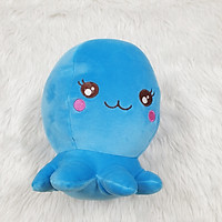 Bạch tuộc nhồi bông size 22cm màu xanh dương