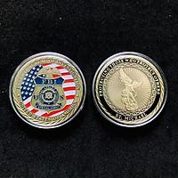 Xu Huy Hiệu FBI Mỹ Dùng để làm đồ lưu niệm, sưu tầm, trang trí bàn sách, kích thước 4.5cm, màu đồng - TMT Collection - SP005282