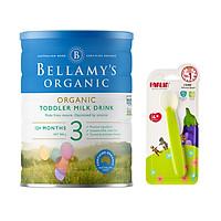 Sữa bột Bellamys Organic số 3 900g tặng thìa ăn dặm silicon Farlin