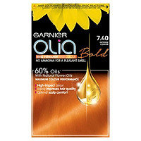 Thuốc nhuộm tóc Garnier Olia Permanent Hair Color (Bill Anh) - 7.40 Intense Copper