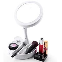 Gương Trang Điểm Để Bàn Gấp Gọn Gó Đèn LED