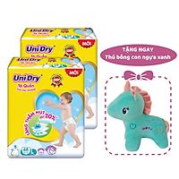 Combo 2 gói Tã quần em bé siêu khô thoáng UniDry size L68 - Tặng 1 thú bông con ngựa xanh