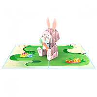 Thiệp 3D pop up Thỏ Bunny