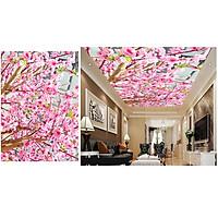 Tranh trần nhà 3D hoa anh đào 2 TN49