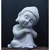Tượng Phật Thích Ca - Màu Xi Măng như hình- làm bằng vật liệu nhựa Composite