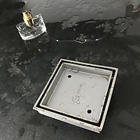 Phễu thoát sàn đặt gạch đúc GL SUS304 120x120mm Ø 90, chống hôi,đúc nguyên khối