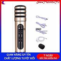 Micro C7 ( Loại 1, Đủ Phụ Kiện) , Thu Âm, Hát Karaoke, Livestream trên điện thoại 3 in 1 màu ngẫu nhiên