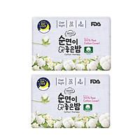 COMBO 2 GÓI BĂNG VỆ SINH HỮU CƠ BAN ĐÊM của Hàn Quốc_NEOSIS COTTON_KT: 32cm_1 gói/8 miếng