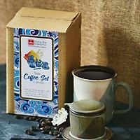 Bộ phin & cốc Cà phê- S3  Đông Gia xám 20D15-3 màu