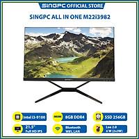 Máy tính All In One SingPC M22i3982( Intel i3-9100, 8GB, SSD 256, 21.5 Full HD IPS, Lan, Wifi, Bluetooth)- Hàng Chính Hãng