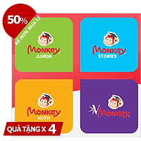 Evoucher - Combo 4 Monkey (Monkey Junior, Storíe, Math, Vmonkey)