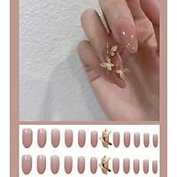 Móng tay giả nail thời trang 3D- Bộ 24 móng