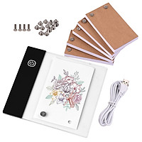 Flip Book Kit with Mini Light Pad LED Lightbox Tablet Design with Hole 300 Sheets Flipbook Paper Binding Screws for