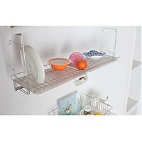 Kệ chén bát đũa đĩa, kệ treo tủ bếp, kệ chén treo 1 tầng Inox 304 DJS-2