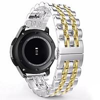 Dây Thép Mắt Xích Đúc Cho Đồng Hồ Samsung Galaxy Watch 46, Gear S3, Huawei GT, Fossil (Size 22mm)
